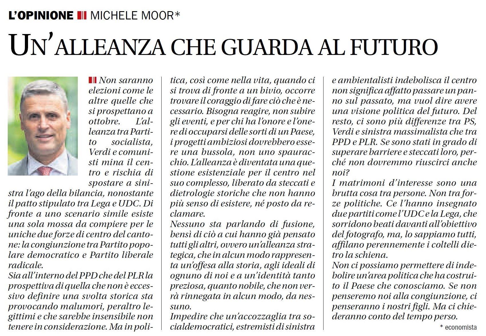 Corriere del Ticino, 25 luglio 2019