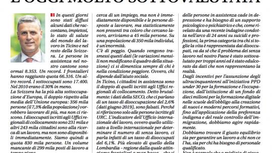 Corriere del Ticino, 10 agosto 2019